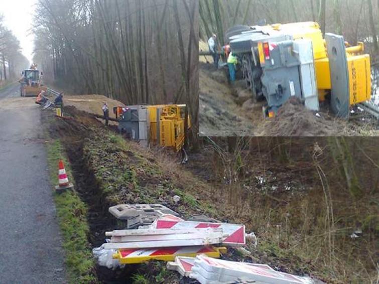 Uwaga Kierowcy! Droga wojewódzka 163 w okolicach Brzeźna zamknięta!