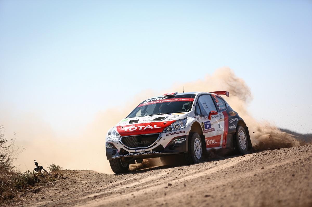 Hubert Ptaszek i Maciek Szczepaniak w debiucie za kierownicą Peugeota 208 T16 dojeżdżają do mety Rajdu Meksyku na 2. miejscu w WRC 2 / Fot. materiały prasowe