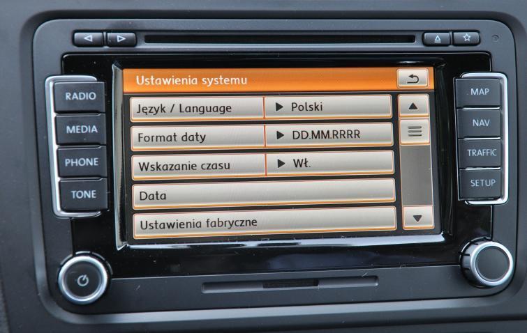 Volkswageny z nawigacją GPS i komputerem pokładowym po polsku