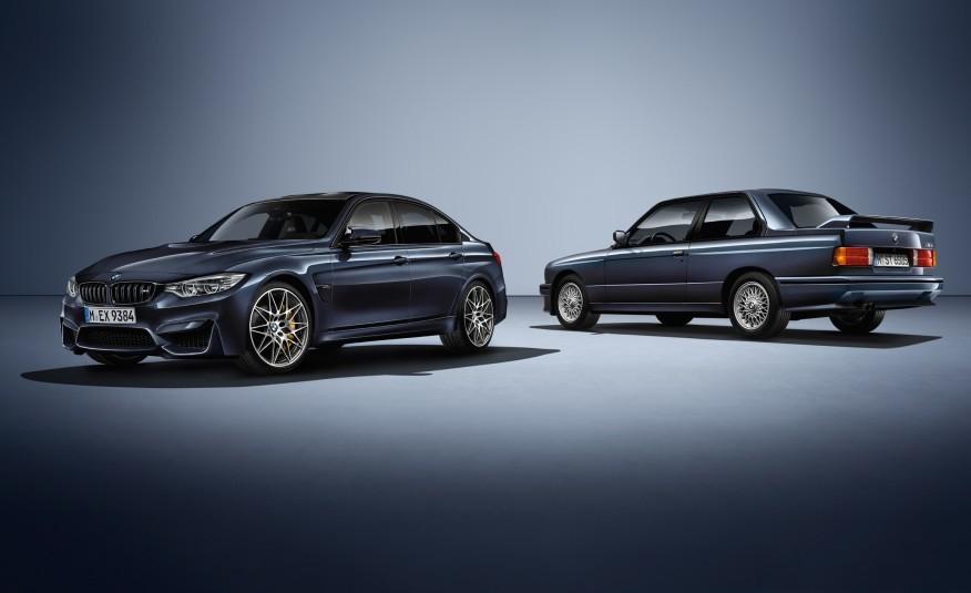 BMW M3 30 Jahre M3    Specjalna edycja nazwana została 30 Jahre M3, a bazą do jej powstania była standardowa odmiana M3 z pakietem Competition. Nowość zostanie polakierowana na kolor Macao Blue - ten sam, który znajdował się na liście opcji w modelu M3 z 1986 roku. Fot. BMW
