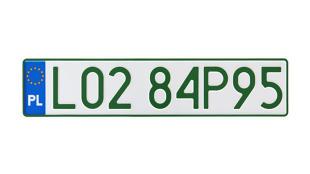 Rejestracja auta. Od dziś nowe tablice z zielonymi napisami