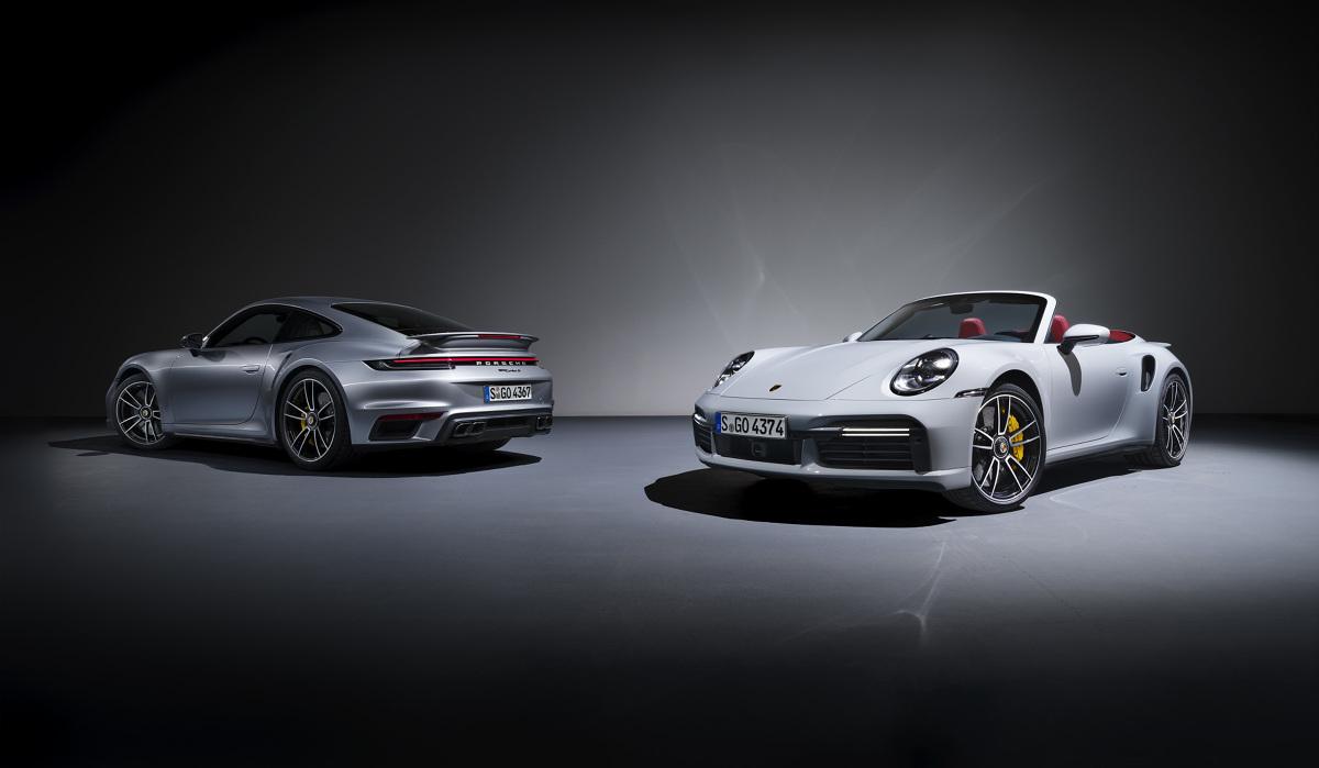 Nowy topowy wariant Porsche 911 Turbo S trafi na rynek jako Coupé i Cabriolet. Fot. Porsche