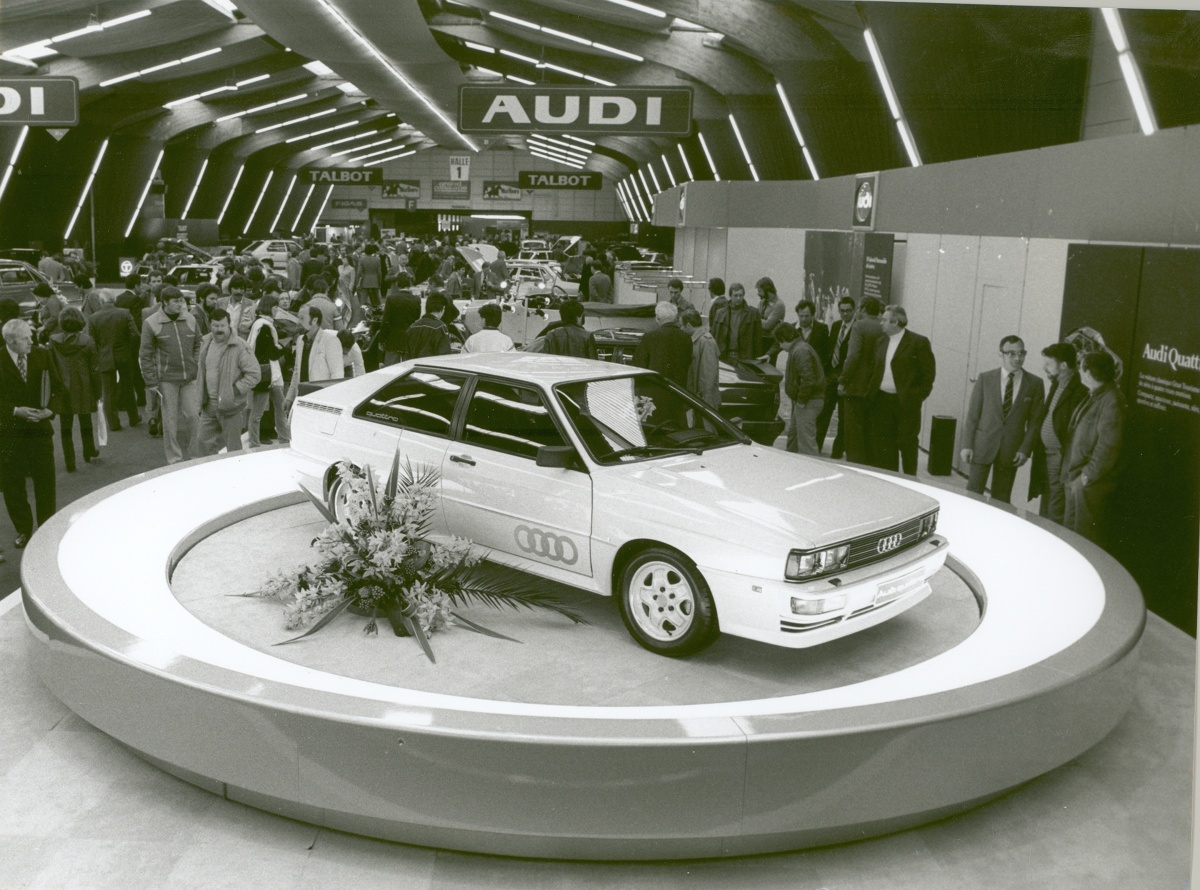 Premiera Audi 80 Quattro w Genewie w 1980 r. Fot. Audi