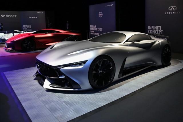 Infiniti Concept Vision   Wystawione wraz z siedmioma innymi pełnowymiarowymi konceptami – czyli podczas największego dotychczas pokazu aut GT concept vision – Infiniti prezentuje to, jak w przyszłości mógłby wyglądać model marki o najwyższych osiągach.  Fot. Infiniti