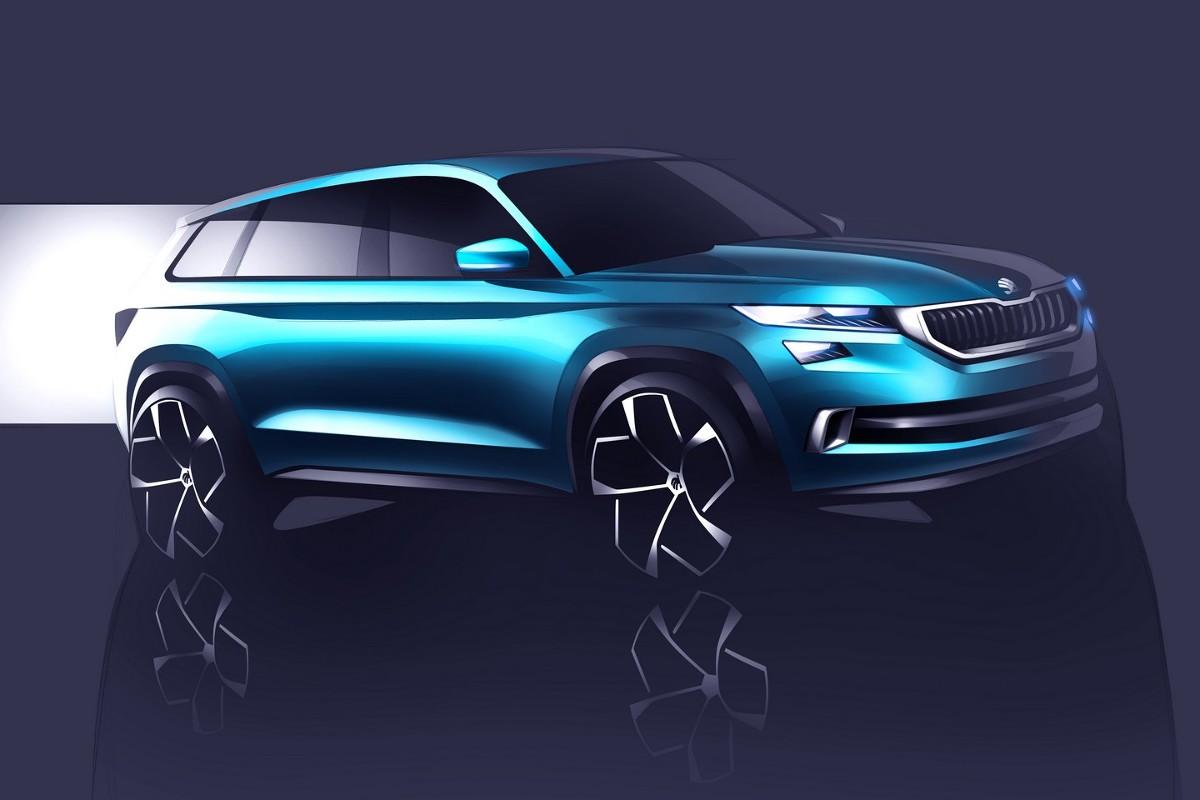 Samochód koncepcyjny mierzy 4,70 m długości, 1,91 m szerokości oraz 1,68 m wysokości. Tym samym nowość jest większa od Volkswagena Tiguana na bazie którego najprawdopodobniej zostanie zbudowana / Fot. Skoda