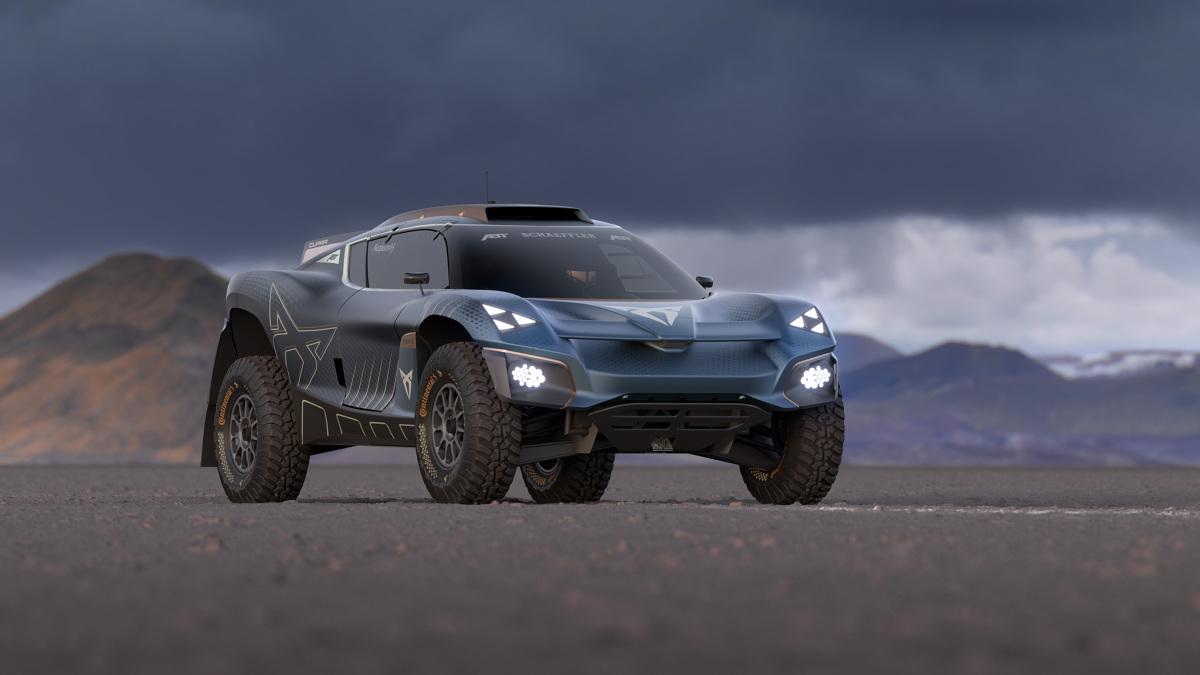 Cupra Tavascan Extreme E Concept  Nowa CUPRA Tavascan Extreme E Concept została wyposażona w baterię litowo-jonową o pojemności 54 kWh, umieszczoną za kokpitem, aby zapewnić lepszy rozkład masy na tylnej osi pojazdu. Samochód może osiągnąć prędkość od 0 do 100 km/h w około 4 sekundy, spełniając tym samym przepisy serii wyścigowej.  Fot. Cupra