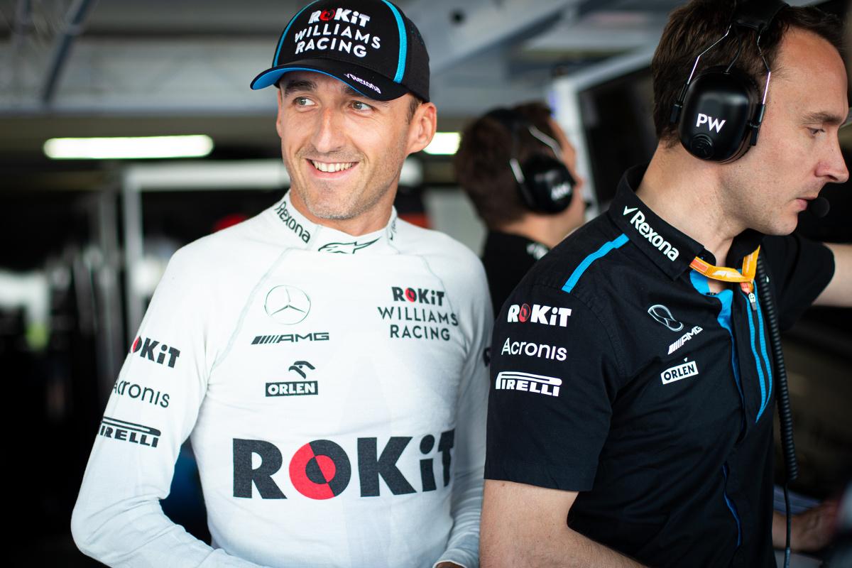 Po niezwykle emocjonującym, pełnym zwrotów akcji, deszczowym wyścigu o Grand Prix Niemiec Robert Kubica zdobył pierwszy punkt do klasyfikacji mistrzostw świata od czasu swojego powrotu do F1. Polak ukończył wyścig na torze Hockenheim na 12. pozycji, ale dyskwalifikacja obu kierowców Alfy Romeo, przesunęła go do punktowanej dziesiątki.   Fot. ROKiT Williams Racing.