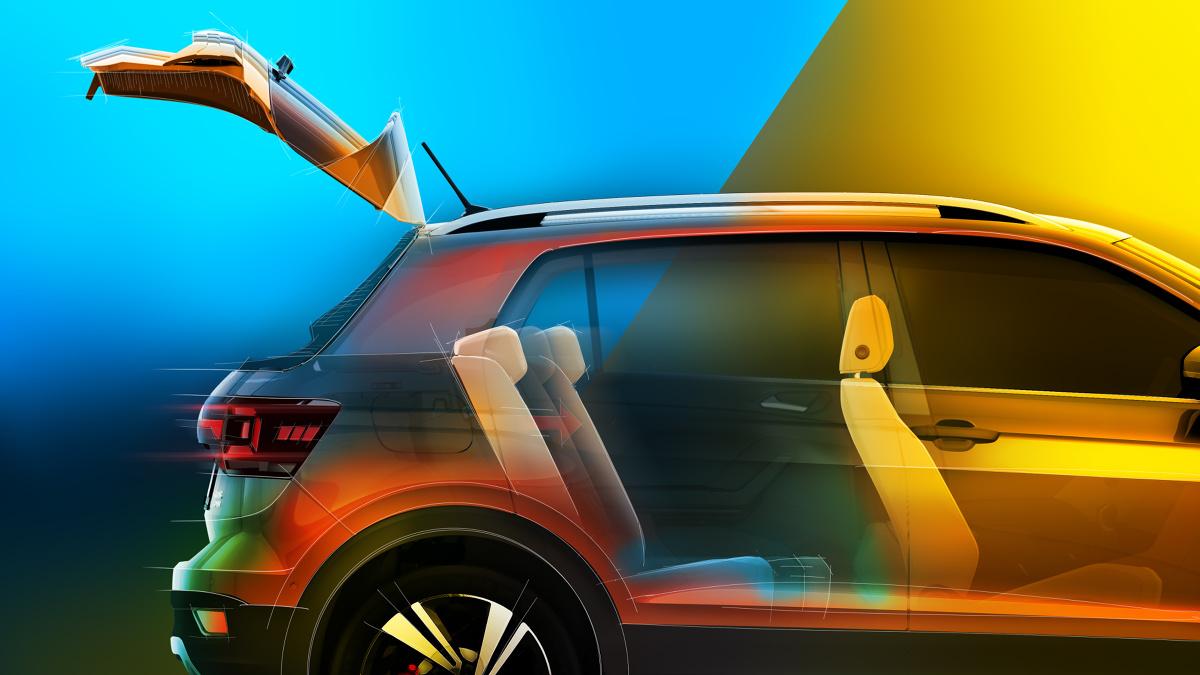 Volkswagen T-Cross  Charakterystyczne dla pojazdów typu SUV są wysoko umieszczone fotele. Siedziska przednich foteli T-Crossa znajdują się na wysokości 597 mm, a trzech znajdujących się z tyłu – na wysokości 652 mm. Zarówno to, jak i większy prześwit auta sprawiają, że kierowca i pasażerowie mają bardzo dobrą widoczność z wnętrza pojazdu.   Fot. Volkswagen
