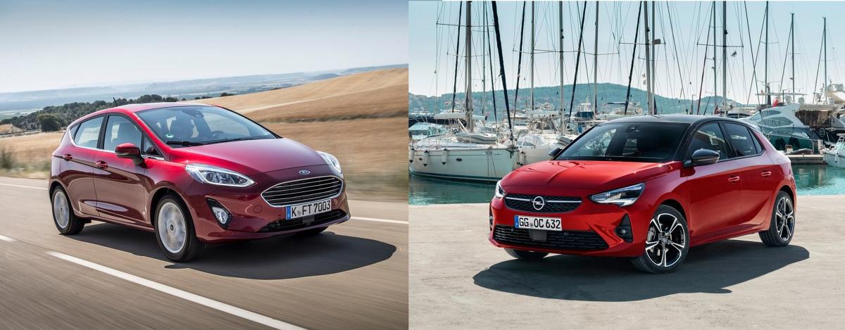 Obecnie potrzeby klientów bywają bardzo zróżnicowane. Niektórzy szukają dużego auta z bogatym wyposażeniem oraz mocnym silnikiem, inni miejskie autko z podstawową jednostką i wyposażeniem. Dziś porównamy auta łączące te dwa światy, czyli kompaktowe wymiary ze stosunkowo mocnym silnikiem i niezłym wyposażeniem. Oto Opel Corsa i Ford Fiesta. Poznajmy bliżej te dwa ciekawe auta z segmentu B. Fot. Producenci