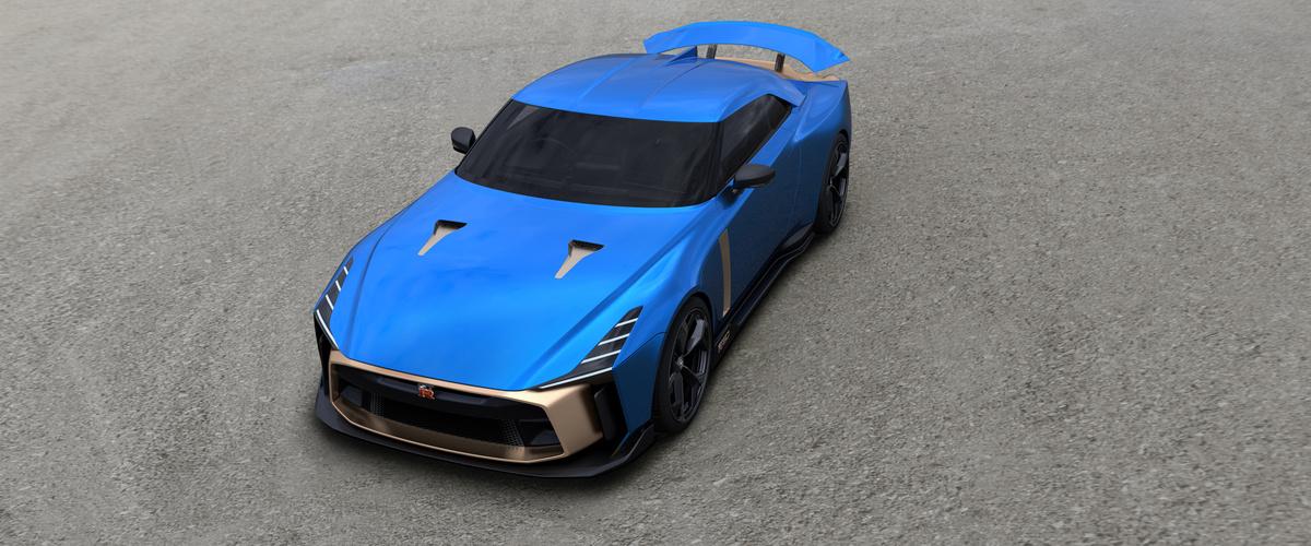 Nissan GT-R50 by Italdesign  Nissan potwierdził wersję produkcyjną Nissana GT-R50 by Italdesign— najbardziej ekskluzywnej wersji modelu GT-R — oraz oficjalnie rozpoczął przyjmowanie zamówień na samochody z liczącej 50 egzemplarzy limitowanej edycji.  Fot. Nissan
