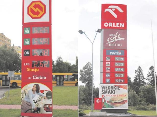 Ceny paliw na stacjach w Koszalinie