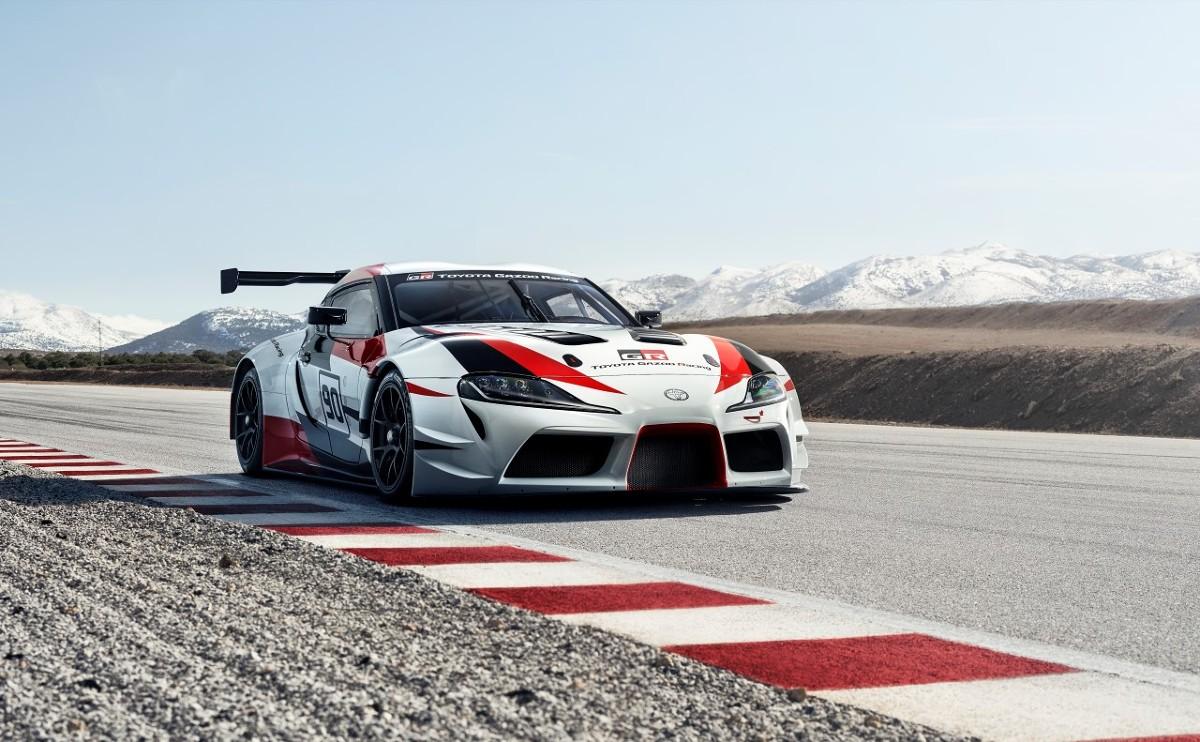 Toyota GR Supra Racing   Toyota GR Supra Racing Concept to kompaktowy, dwudrzwiowy samochód z napędem na tylną oś i silnikiem z przodu, zbudowany z zaawansowanych, lekkich materiałów.  Fot. Toyota