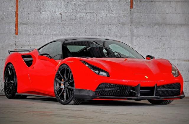 Ferrari 488 GTB  Supersamochody ze stajni Ferrari są rzadkim widokiem na drogach. Jeszcze trudniej o spotkanie ze zmodyfikowanym egzemplarzem. Szkoda, bo jest na czym oko zawiesić. Niemiecka firma VOS Performance postanowiła sprawdzić swoje możliwości podczas kompleksowego tuningu Ferrari. Na warsztat trafił model 488 GTB z 670-konnym 3.9 V8.  Fot. Jordi Miranda