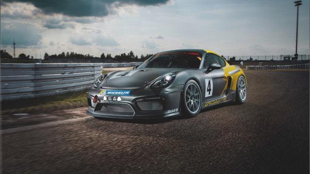 Porsche Cayman GT4 Clubsport MR   Auto z 1340 kg zostało odchudzone do 1300 kg. Taki wynik udało się uzyskać m.in. dzięki zastosowaniu włókna węglowego. Z tego materiału wykonano m.in. drzwi oraz klapy.  Fot. Manthey Racing