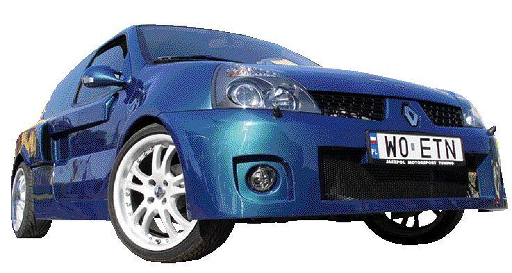 Renault clio V6? Nie, to zwykła cliówka po profesjonalnym tuningu. fot. tomasz jabłoński