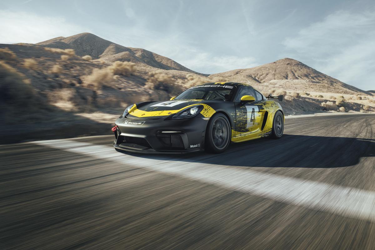 Porsche 718 Cayman GT4 Clubsport  Do napędzania 718 Cayman GT4 Clubsport służy 6-cylindrowy silnik typu bokser o pojemności 3,8 litra, generujący moc 425 KM – czyli o 40 KM wyższą niż jednostka poprzednika.   Fot. Porsche