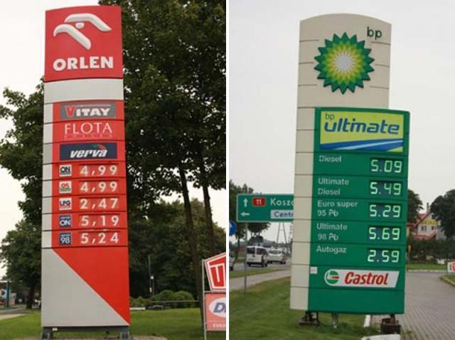 Paliwa: 10 kilometrów i 30 groszy różnicy [zachodniopomorskie]