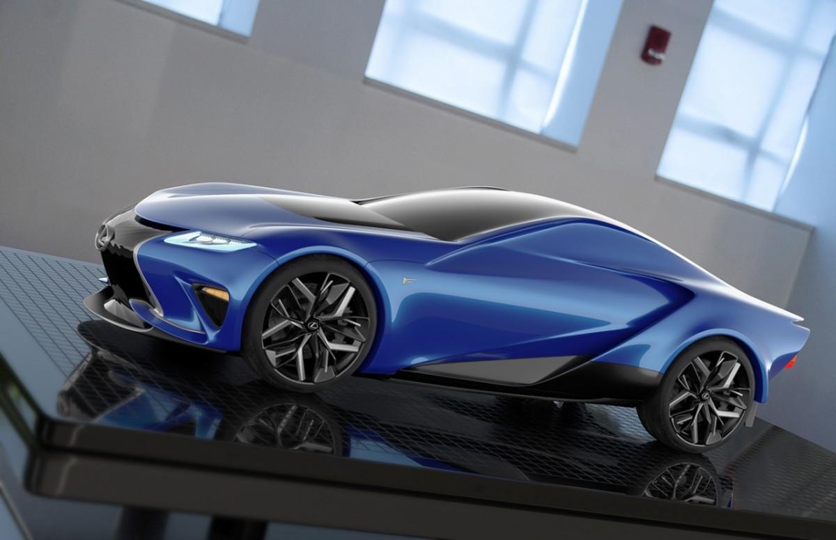 Jak mógłby wyglądać następca kultowego Lexusa LFA, supersamochodu z silnikiem V10 i nadwoziem z kompozytów zbrojonych włóknem węglowym? Wizję takiego auta przedstawił młody projektant z Kalifornii.  Fot. Yang Sun; www.behance.net
