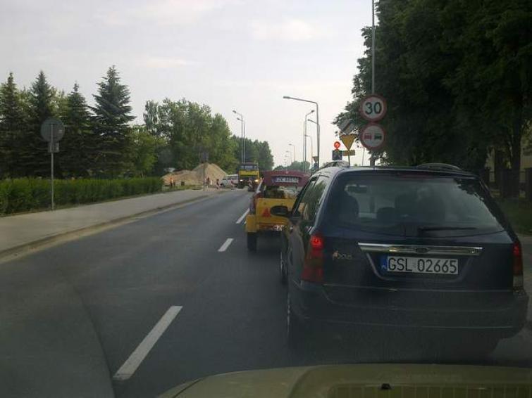 Ogromny korek na ul. Połczyńskiej w Koszalinie