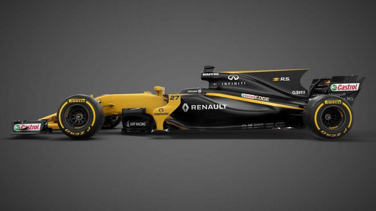 Bolid na sezon 2017 został zaprojektowany od nowa. Spełnia najnowsze przepisy obowiązujące w Formule 1. Jest to także pierwszy samochód F1 zaprojektowany przez biura Renault Sport Racing w angielskim Enstone i francuskim Viry-Châtillon.  Fot. Renault