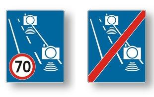 Znaki drogowe. Nowe oznakowanie dotyczy odcinkowego pomiaru prędkości