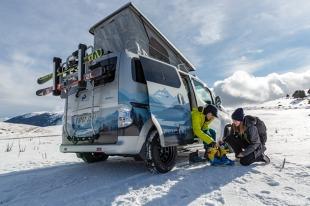 Karawaning. Nissan prezentuje koncepcyjny, w pełni elektryczny eNV200 Winter Camper