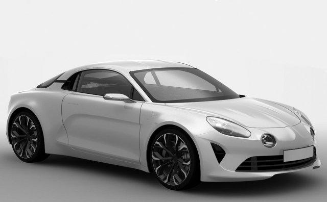 Auto w stosunku do tego z zaprezentowanych wcześniej grafik, ma niewiele się różnić. Spodziewać możemy się felg wykonanych z lekkich stopów oraz przemodelowanego pasa przedniego.   Renault Alpine A120 / Fot. Renault