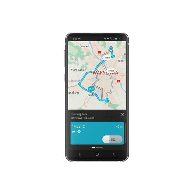 TomTom ogłosił dostępność TomTom GO Navigation we wszystkich głównych sklepach z aplikacjami mobilnymi. TomTom GO Navigation, można teraz pobrać ze sklepów App Store, Google Play i Huawei AppGallery.  Fot. TomTom