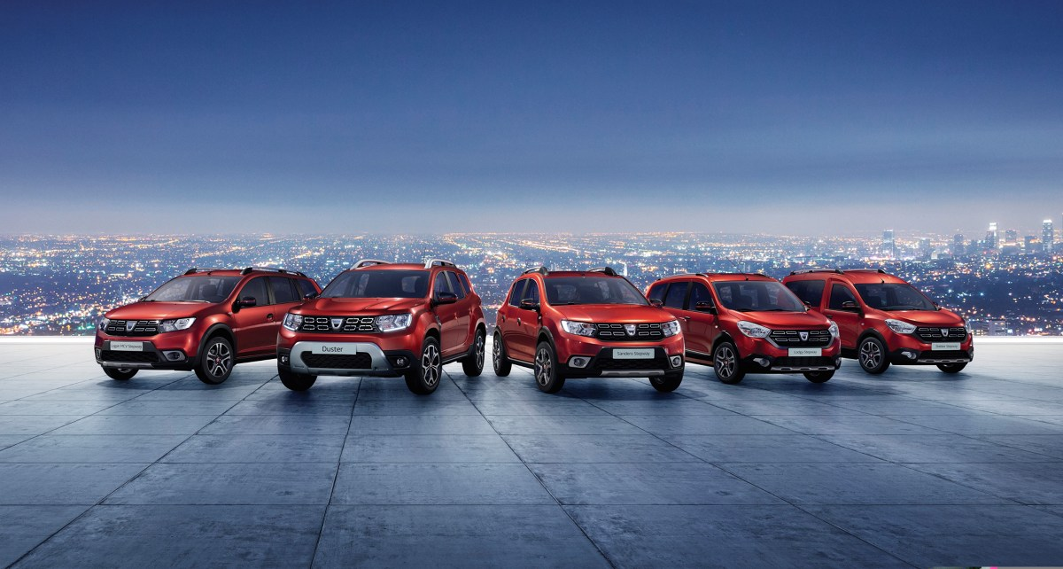 Aktualna gama samochodów marki Dacia. Fot. Dacia