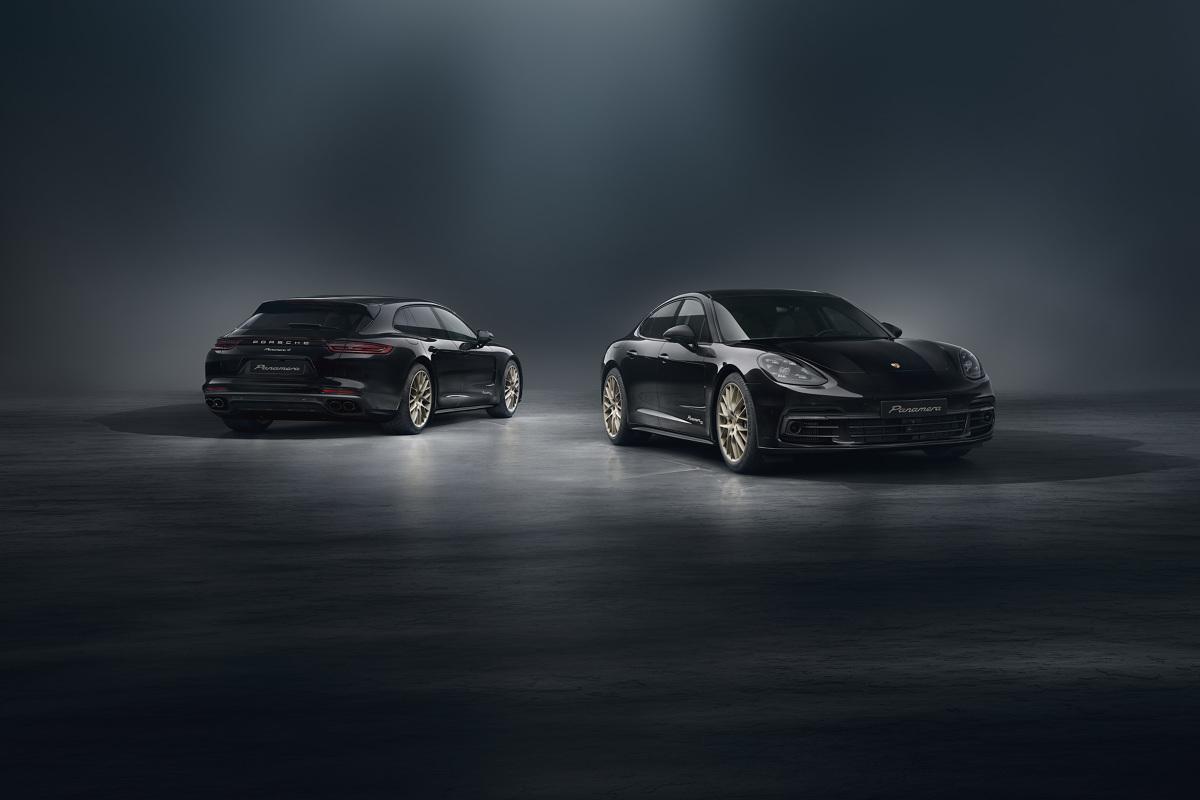 Porsche Panamera 10 Years Edition  Ceny urodzinowej edycji Porsche Panamera 4 E-Hybrid startują od 580 tys. zł, a odmiany Sport Turismo – od 593 tys. zł. 2,9-litrowy motor biturbo i mocny, 136 konny silnik elektryczny dostarczają tu łącznie 340 kW (462 KM).  Fot. Porsche