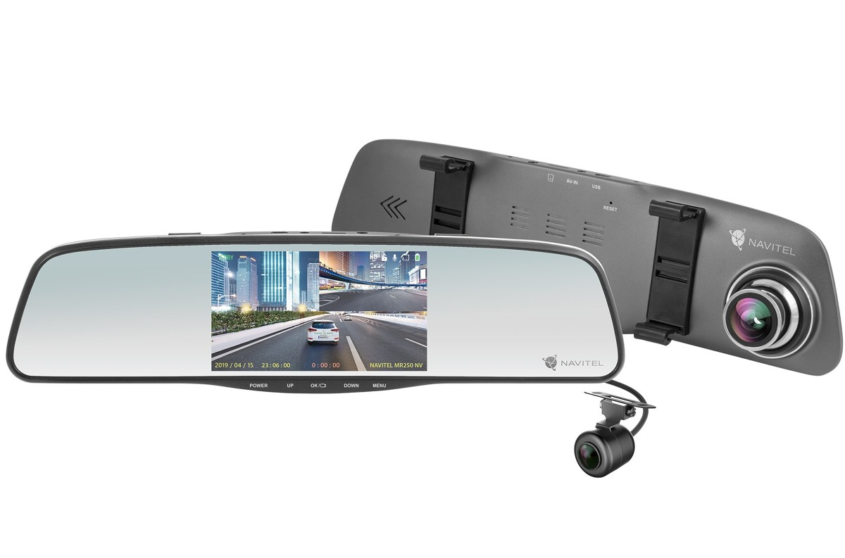 Firma NAVITEL, wprowadziła do sprzedaży nowy wideorejestrator. Model MR250 NV to drugie urządzenie z regularnej oferty producenta, które wyposażono w sensor optyczny z obsługą night vision.  Fot. Navitel