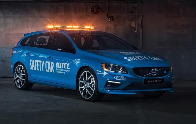 Volvo V60 Polestar Safety Car  Słynące z przywiązania do bezpieczeństwa Volvo zbudowało samochód bezpieczeństwa dla mistrzostw świata samochodów turystycznych WTCC. W rolę Safety Cara wcieli się Volvo V60 Polestar.  Fot. Volvo