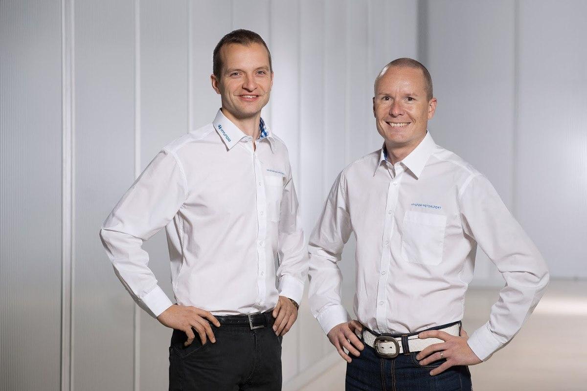 Juho Hänninen i Tomi Tuominem, Fot: Hyundai