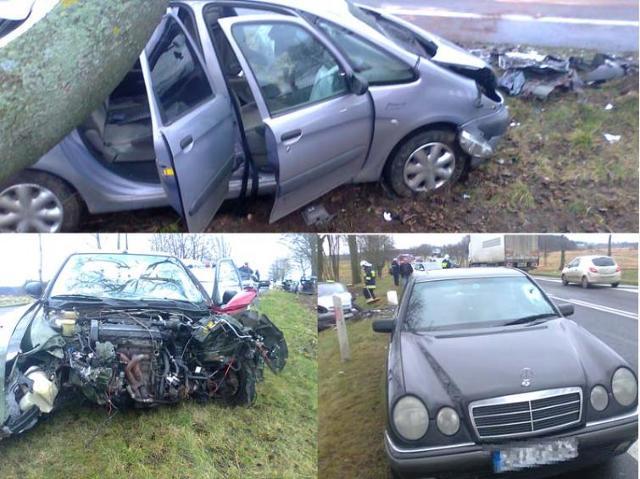 Biesiekerz: trzy auta zniszczone, dwójka poszkodowanych