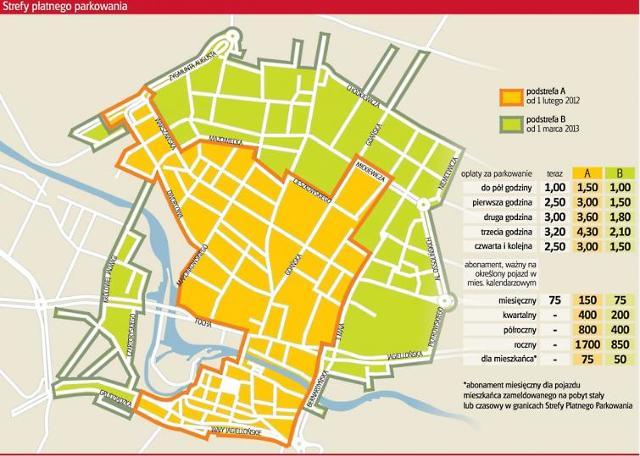 Wyższe opłaty za parkowanie w Bydgoszczy i większa strefa (MAPA)